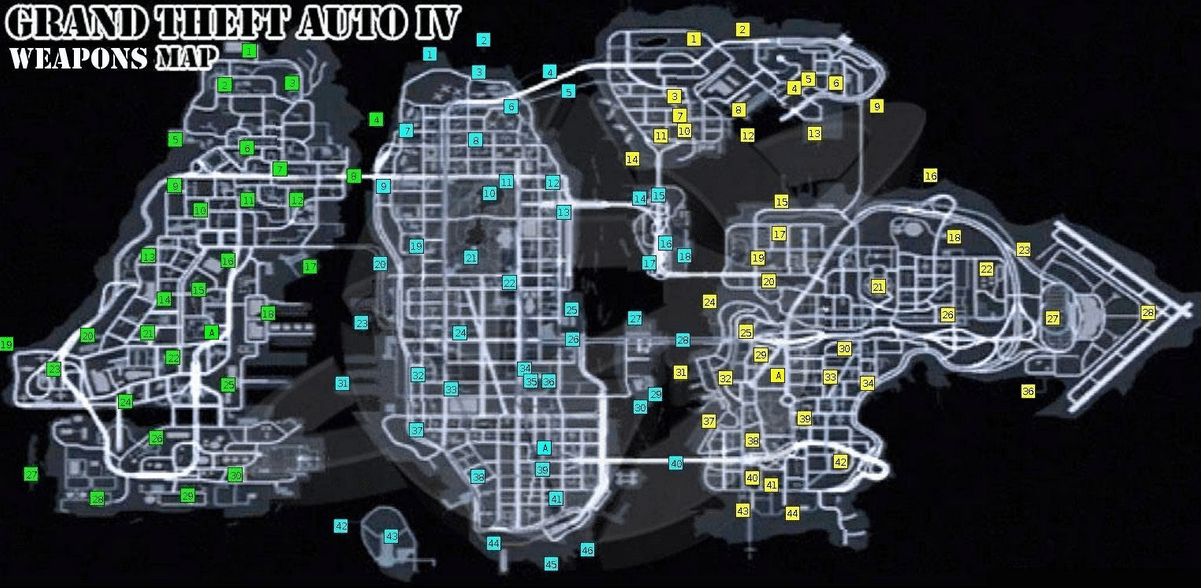 Official gta 4 map and PS 3 controls